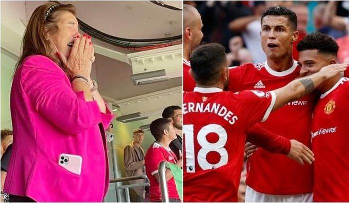 Dolores Aveiro, mẹ Ronaldo khóc trên khán đài