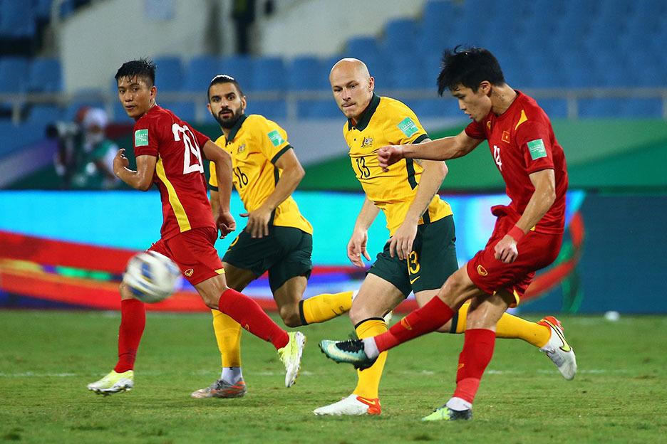 Những thống kê sau trận đấu giữa tuyển Việt Nam và Tuyển Australia